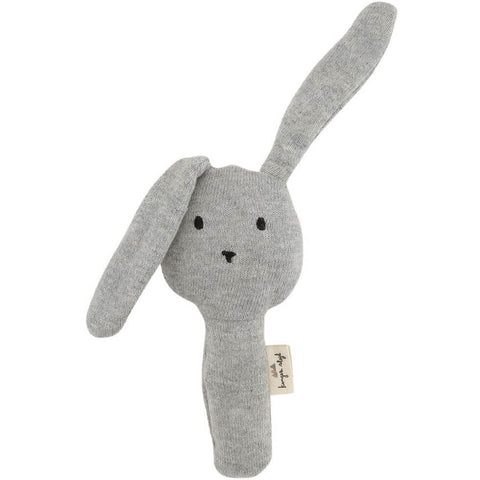 Konges Slojd Organic Activity Hand Rabbit - Grey Melange