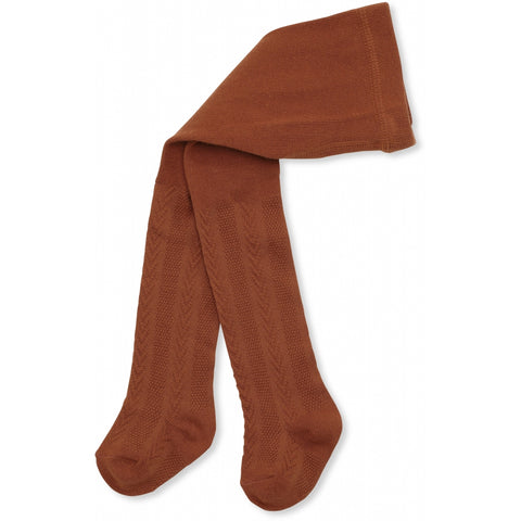 Konges Slojd Misa Pointelle Tights - Caramel