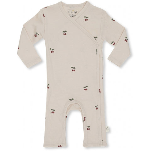 Konges Slojd Newborn Organic Onesie - Cherry Blush