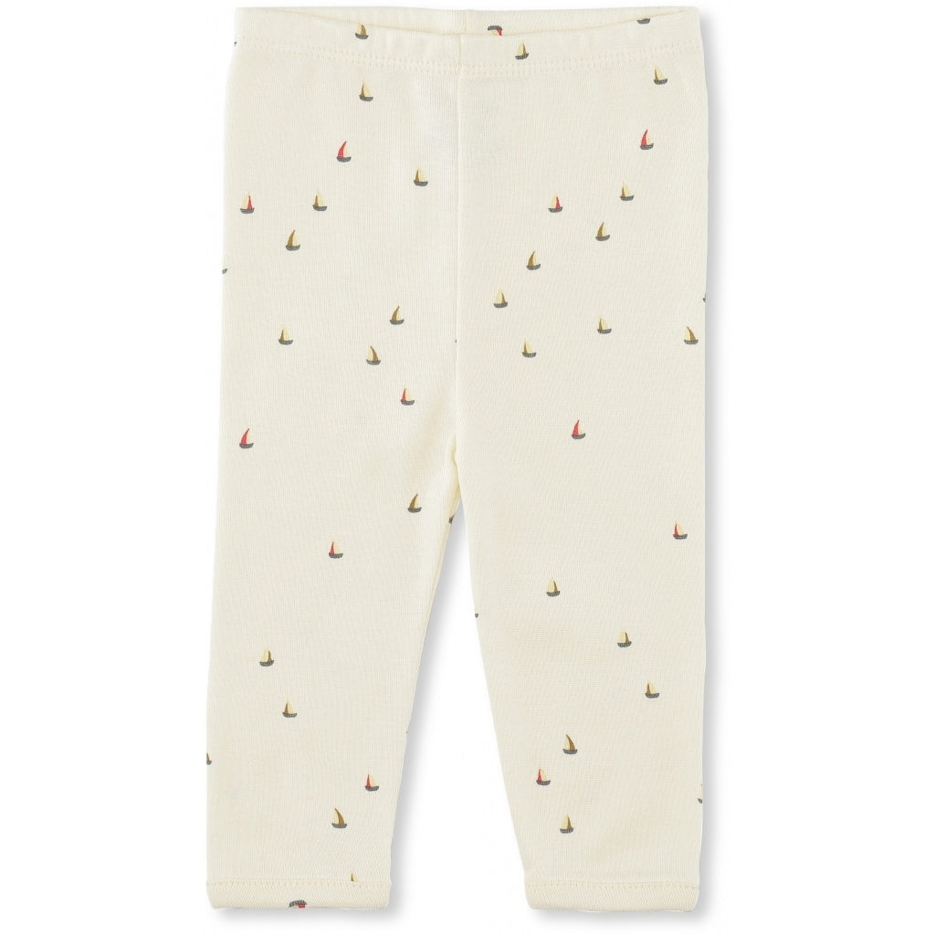 Konges Slojd Organic Newborn Pants - Mille Marine Off White