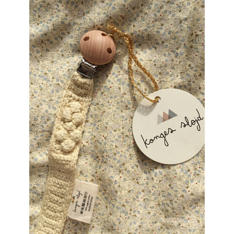 Konges Slojd Knitted Pacifier Strap - Lemon
