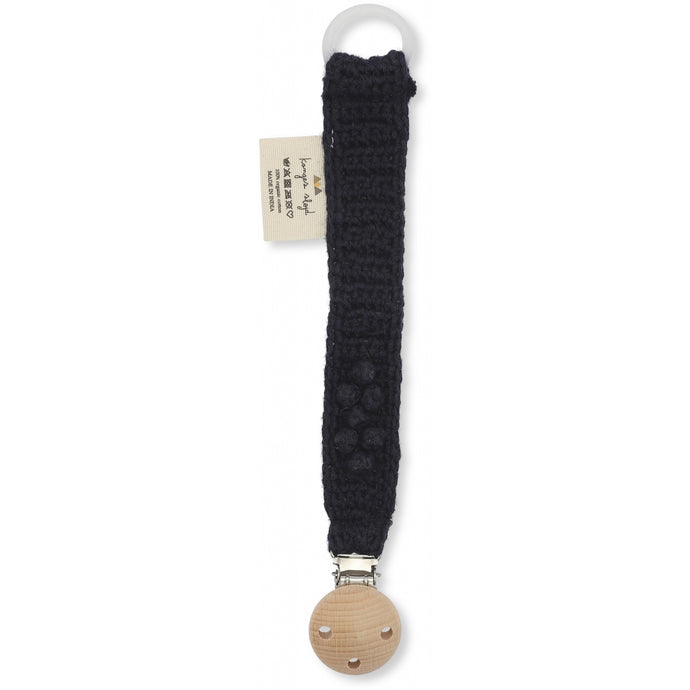 Konges Slojd Knitted Pacifier Strap - Navy