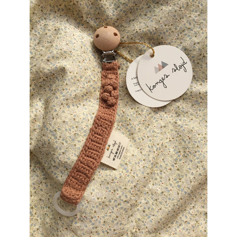 Konges Slojd Knitted Pacifier Strap - Sahara