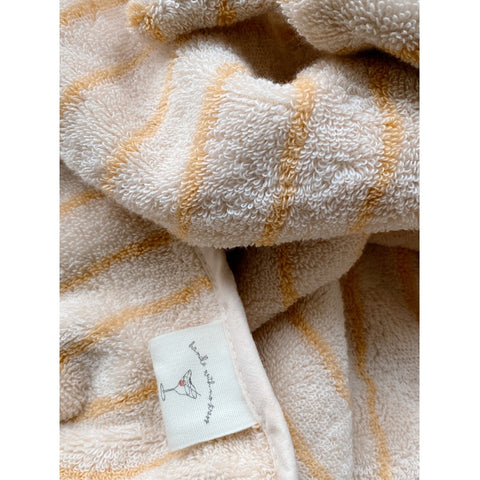 Konges Slojd Organic Terry Towel - Striped Sunflower