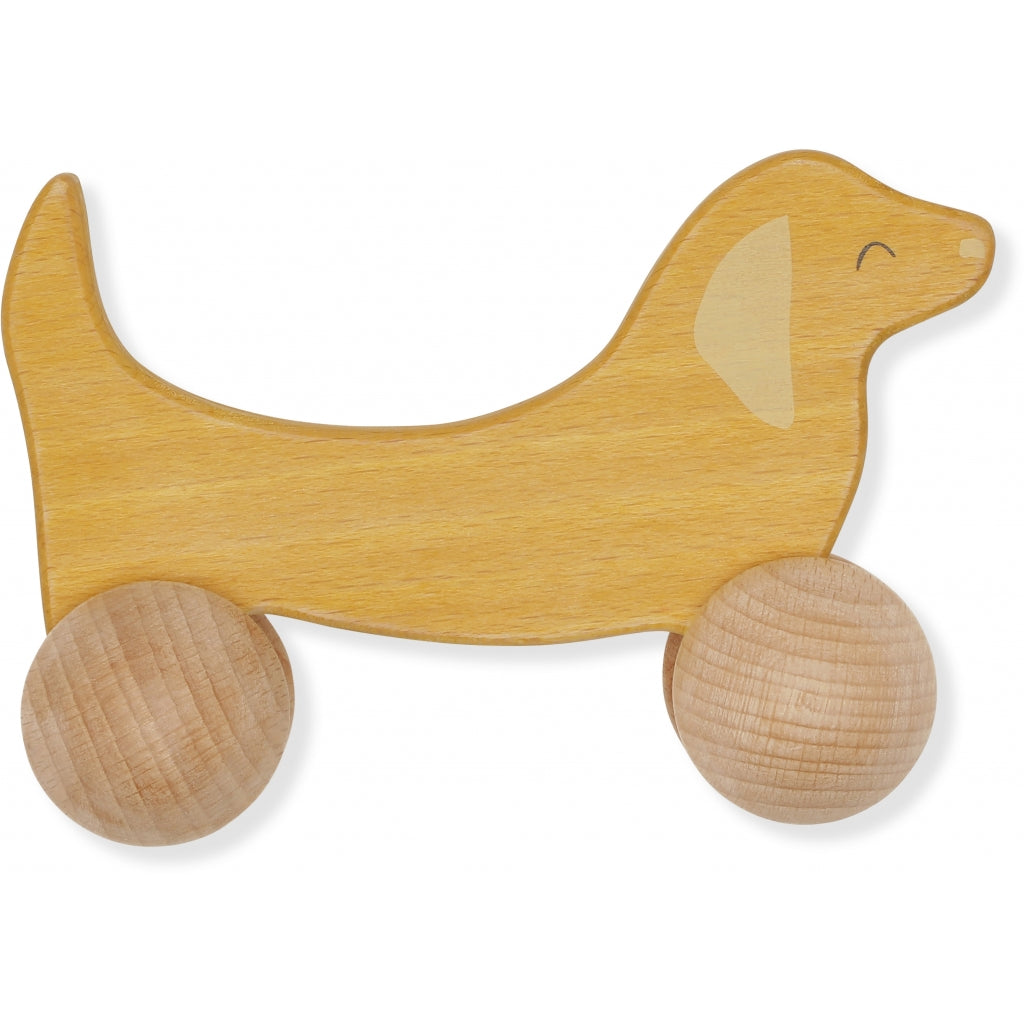 Konges Slojd Rolling Dog Wooden Toy