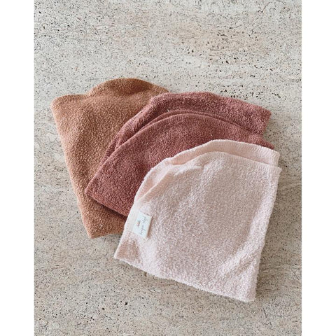Konges Slojd 3 Pack Organic Terry Washcloths - Bloom