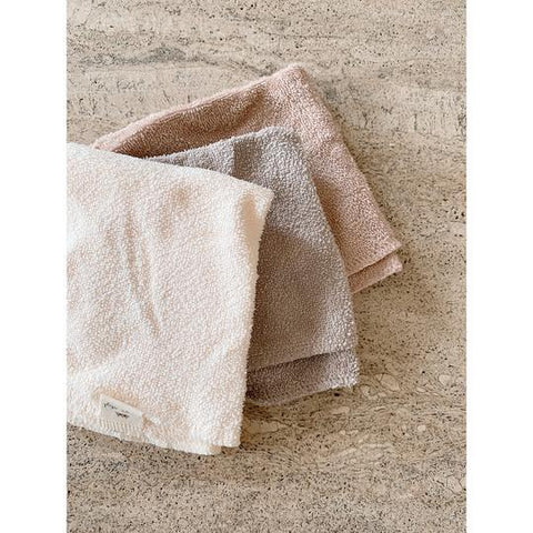 Konges Slojd 3 Pack Organic Terry Washcloths - Shades of Sand