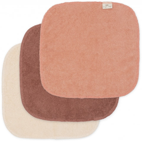 Konges Slojd 3 Pack Organic Terry Washcloths - Sunrise