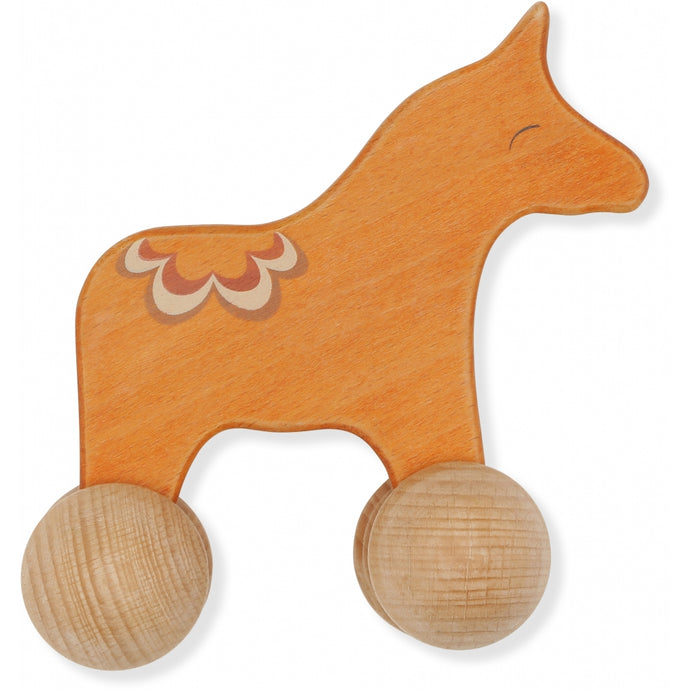 Konges Slojd Rolling Horse Wooden Toy