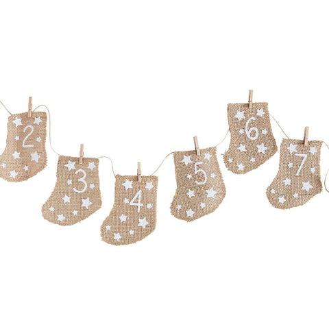 Hessian Stockings - Fill Your Own Advent Calendar By Ginger Ray