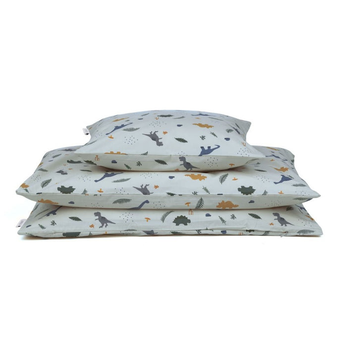 Liewood Ingeborg Junior Bedding Set (100 x 140cm)  - Dino Dove Blue Mix