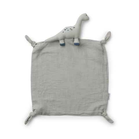 Liewood Agnete Organic Cuddle Cloth - Dino Dove Blue