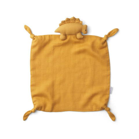 Liewood Agnete Organic Cuddle Cloth - Dino Yellow Mellow