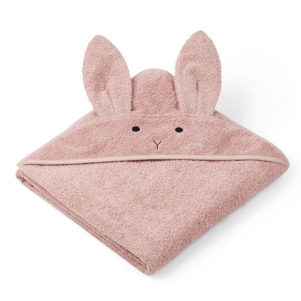 Liewood Organic Augusta Hooded Towel - Rabbit Rose