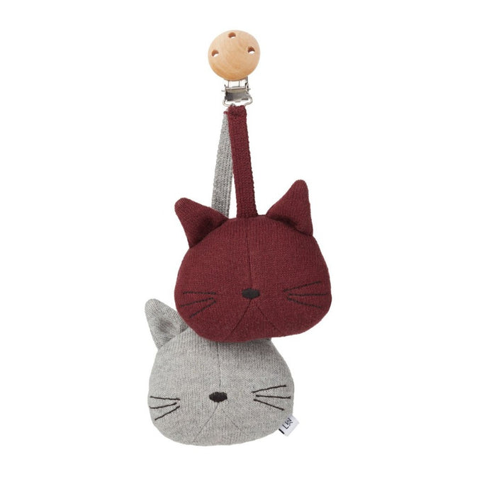 Liewood Rosa Pram Toy - Cat Grey Melange