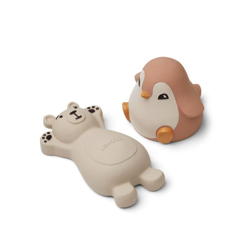 Liewood Knud Bath Toys - 2 Pack - Rose mix