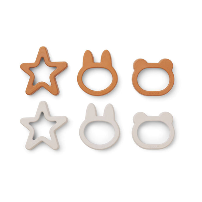 Liewood Andy Cookie Cutters - 6 Pack - Mustard Mix
