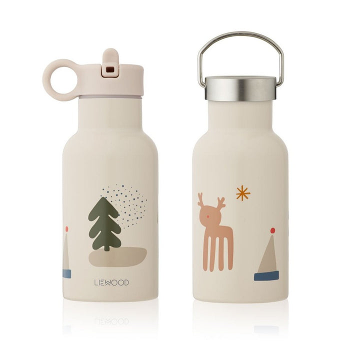 Liewood Anker Steel Water Bottle - Holiday Mix