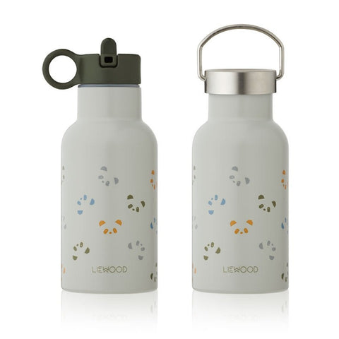 Liewood Anker Steel Water Bottle - Panda Dove Blue Multi Mix