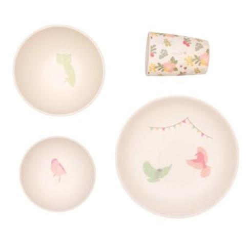 Bamboo 4pc 'Woodland Feast' Tableware Set By Love Mae | Soren's House