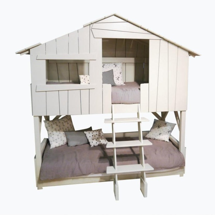 Mathy by Bols Treehouse Cabin Bunk Bed (26 Colours Available)