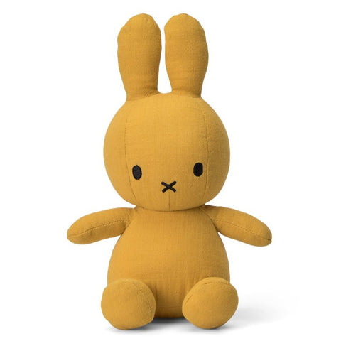 Miffy Mousseline Soft Toy - 23cm Yellow