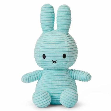 Miffy Corduroy Soft Toy - 24cm Turquoise