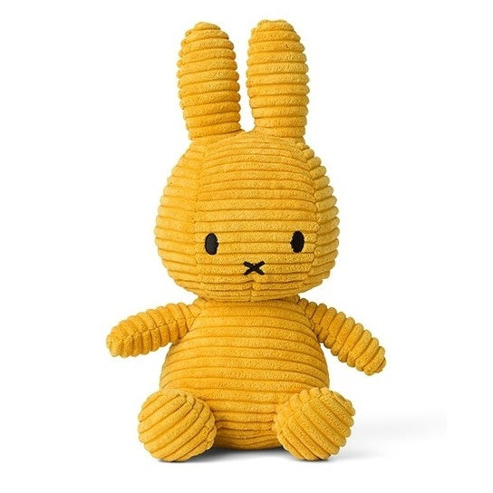 Miffy Corduroy Soft Toy - 24cm Yellow