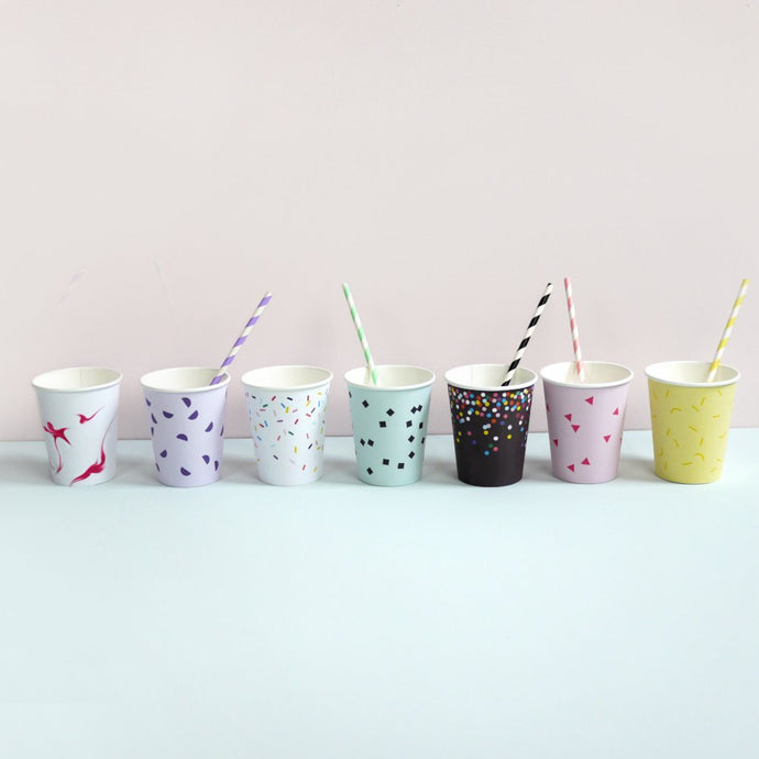 Moon Picnic Paper Party Cups Pack - Ice Cream Pastels | Soren's House
