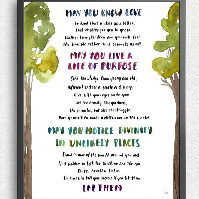 My Wish For You Print by Little Truths Studio (FREE DELIVERY)