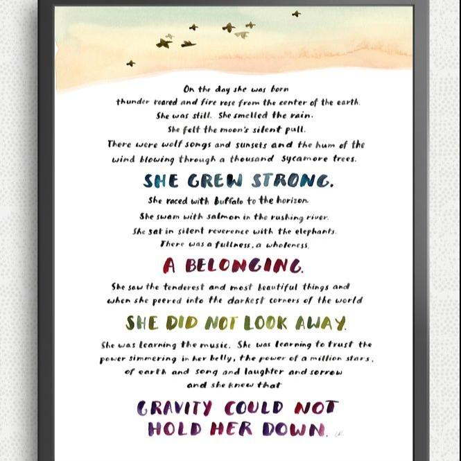 On The Day She Was Born Print by Little Truths Studio (FREE DELIVERY)