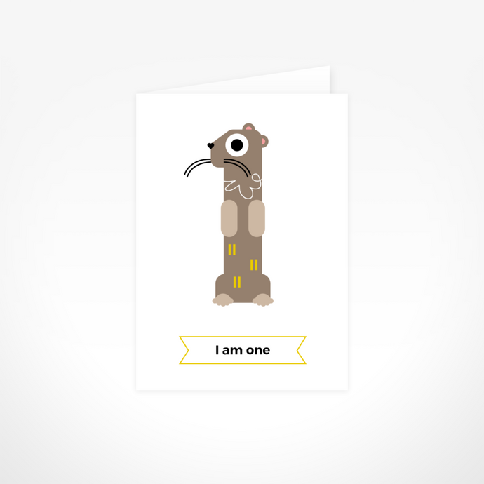 I Am One (Otter) Greeting Card By The Jam Tart