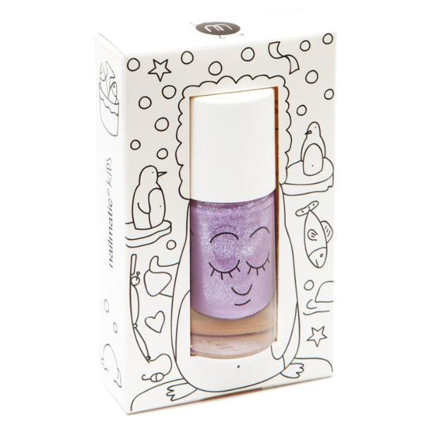 Nailmatic Wash Off Nail Varnish - Piglou (Purple Glitter)