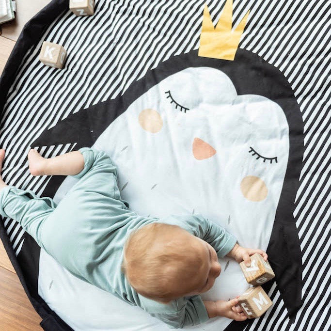 Play & Go Penguin Toy Storage Bag & Soft Playmat | Soren's House