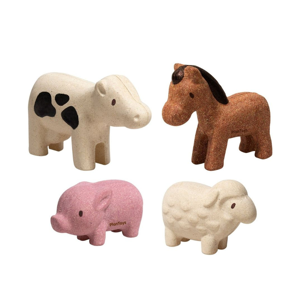 Plan Toys Wooden Farm Animals Set