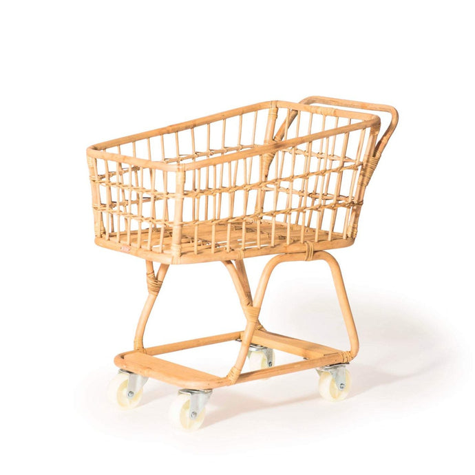Poppie Toys Rattan Toy Shopping Trolley