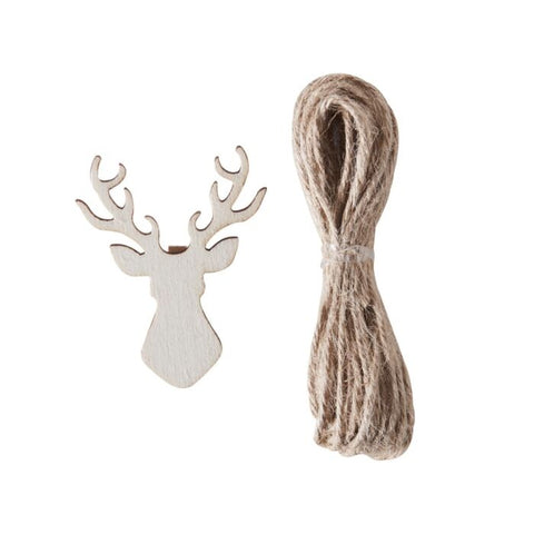Stag Shaped Wooden Peg & Twine Card Holder Kit