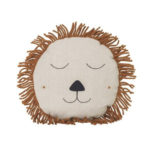 Ferm Living Lion Safari Cushion - Natural