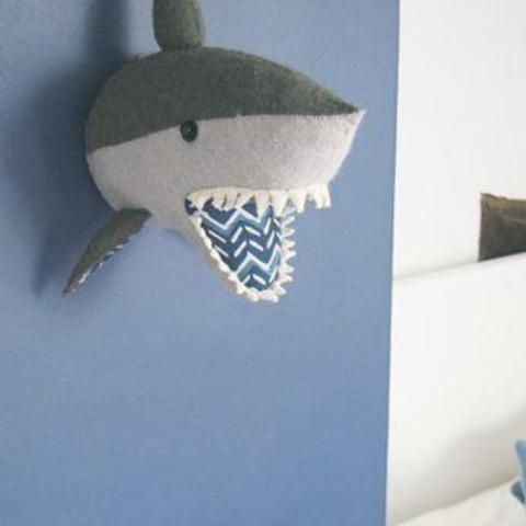 Fiona Walker Shark Felt Animal Wall Head