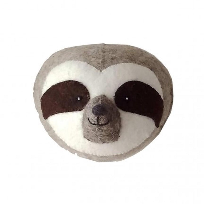 Fiona Walker Sloth Felt Animal Wall Head - Mini