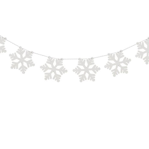 Wooden Snowflake Bunting By Ginger Ray
