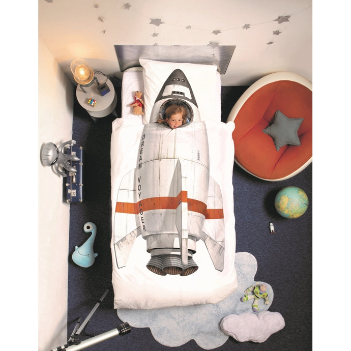 Snurk Rocket Single Duvet Cover and Pillowcase Set