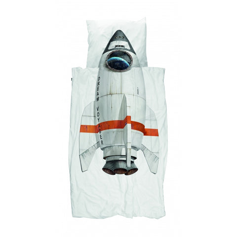 Snurk Rocket Kid's Single Duvet Cover & Pillowcase Set | Soren's House