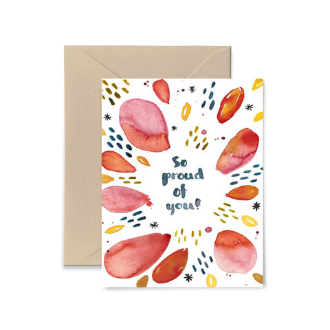So Proud of You Greeting Card by Little Truths Studio