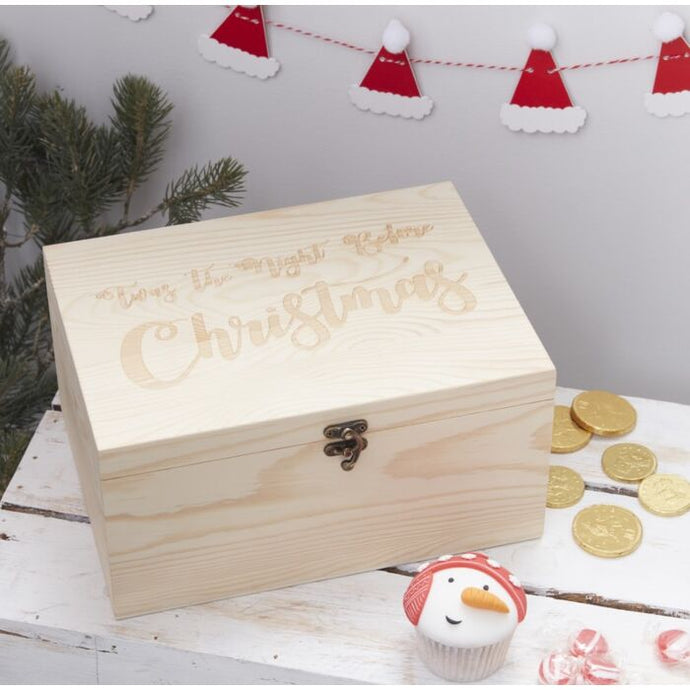 Wooden Christmas Eve Box By Ginger Ray