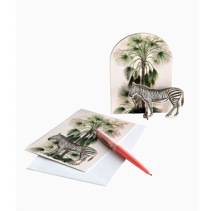 Studio Roof 3D Model Greeting Card - Tropical Zebra