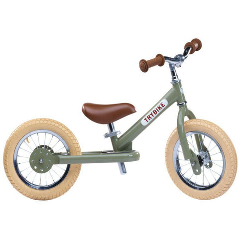 Trybike - Steel Balance Bike - Vintage Green
