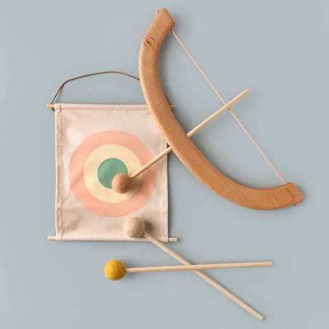 Wooden Bow & Arrow Set By Tangerine Studio - Peach