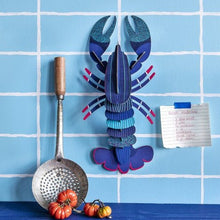 Studio Roof 3D Model Wall Decor - Blue Lobster