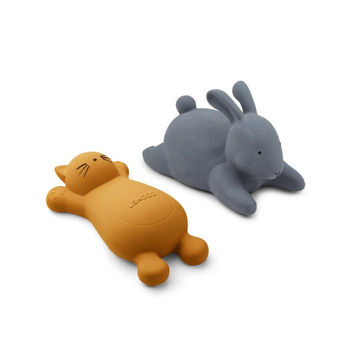 Liewood Vikky Bath Toys - Cat Mustard (2 Pack)